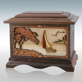 Walnut Soft Breezes Ambassador - Wood Cremation Urn