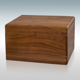 Walnut Boxwood - Wood Cremation Urn