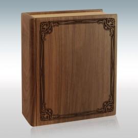 Walnut Book - Wood Cremation Urn