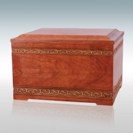 Cherry Sculpted - Wood Cremation Urn