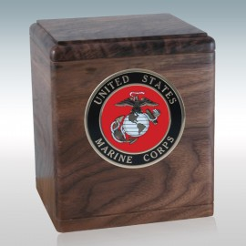 Walnut Freedom Military - Wood Cremation Urn